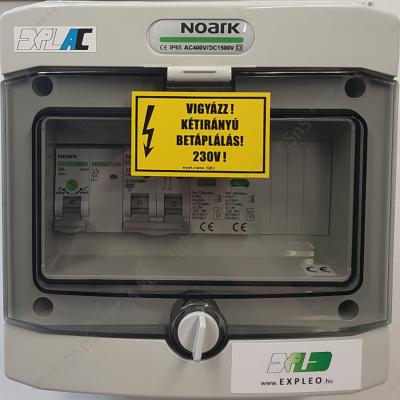 1 fázisú AC védelmi elosztó - ExPLe-AC-1Fp2-K25-M10C-T2-IP65
