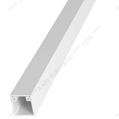 Kábelcsatorna fehér 40x40 mm