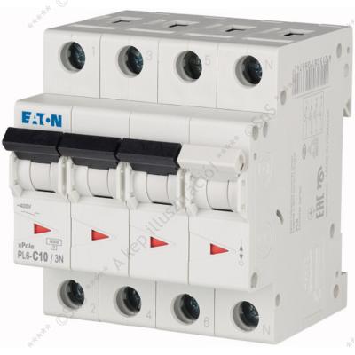Kismegszakító 3P+N 10A 6kA PL6-C10/3N 106908 Eaton